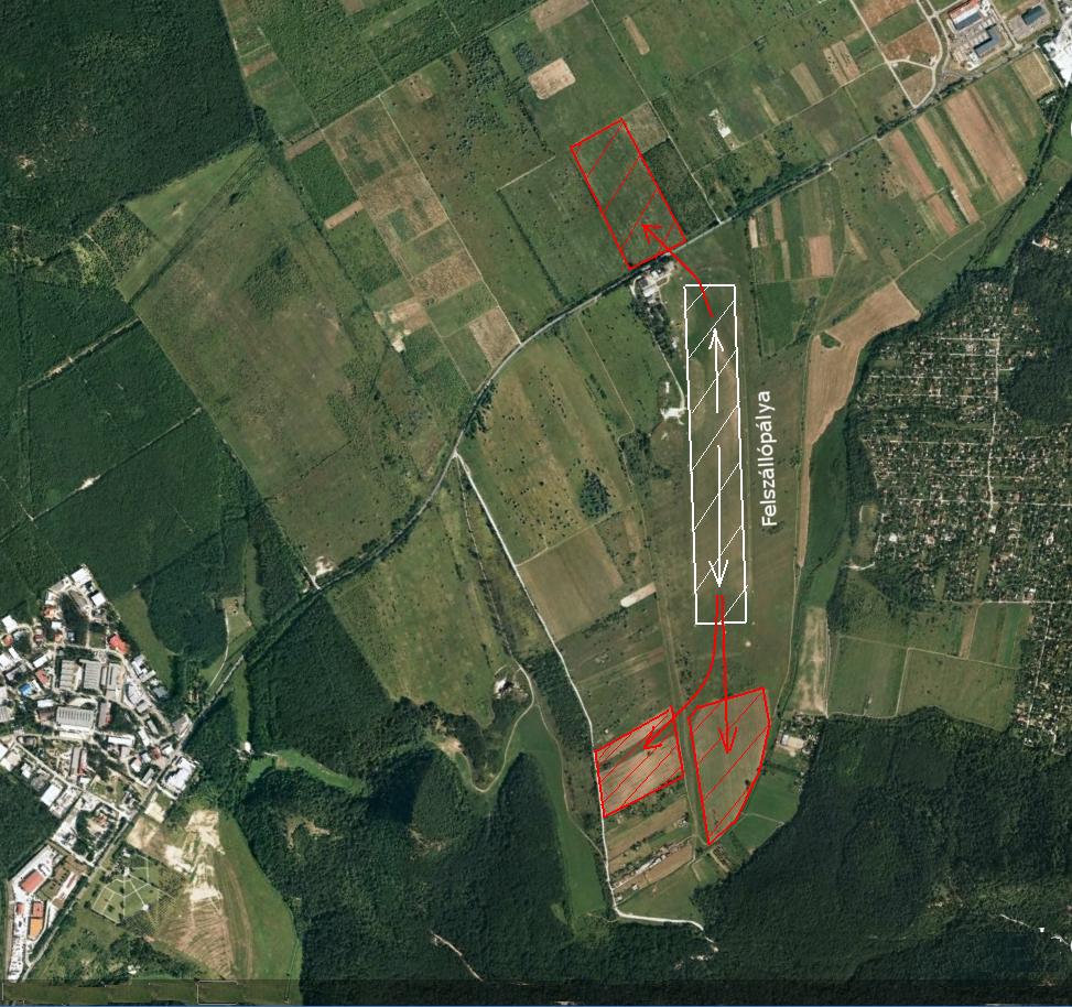 Farkashegyi reptér körüli kényszerleszálló terepek