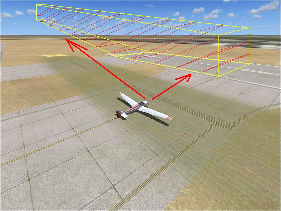 Leszálló repülőgép ellenőrzése